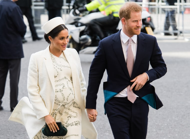 Image: Meghan Markle, Duchess of Sussex, and Prince Harry, Duke of Sussex, attends the Commonwealth Day service at Westminster Abbey in London on March 11, 2019.