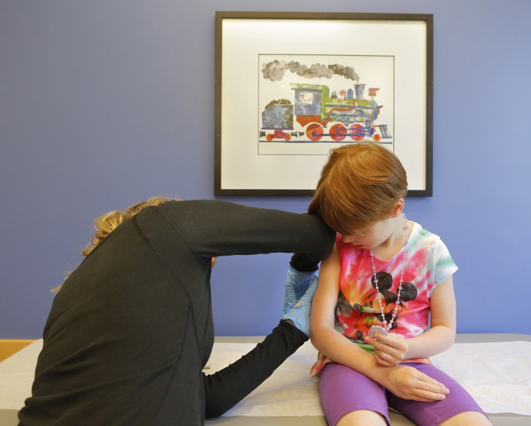 Child receives varicella vaccination