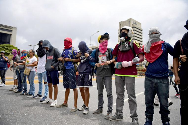 Image: VENEZUELA-CRISIS-OPPOSITION-DEMO