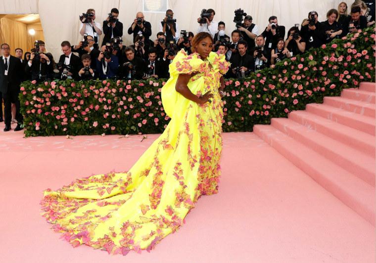 "Image: Metropolitan Museum of Art Costume Institute Gala - Met Gala - Camp: Notes on Fashion- Arrivals - New York City, U.S. ?EUR"" May 6, 2019 - Serena Williams."