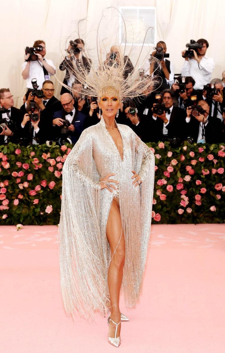 "Image: Metropolitan Museum of Art Costume Institute Gala - Met Gala - Camp: Notes on Fashion- Arrivals - New York City, U.S. ?EUR"" May 6, 2019 - Celine Dion"