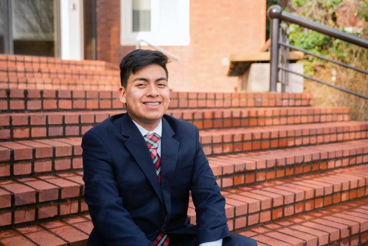 Raul Marquez Guerrero, Salem-Keizer school board candidate, at Willamette University in Salem, Oregon.