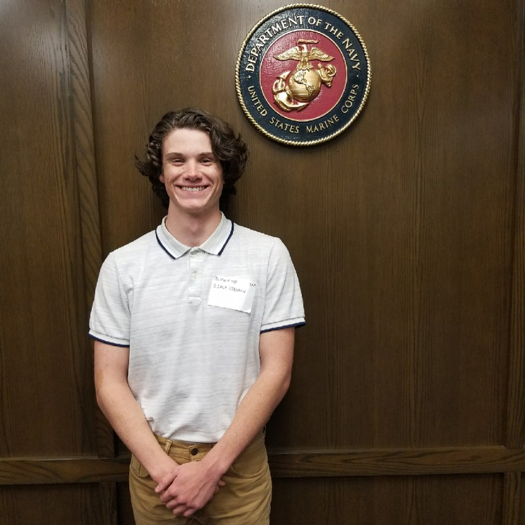 Image: Brendan Bialy, a a poolee in the Marine Corps Delayed Entry Program, helped subdue a shooter at the STEM School in Colorado.