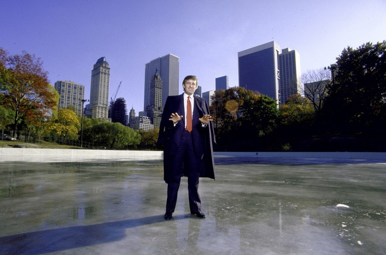 Image: Donald Trump at the Wollman Rink in Central Park in 1986.