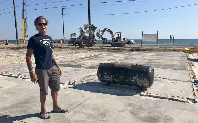 "Michael Scoggins' restaurant ""Killer Seafood"" was completely destroyed when Hurricane Michael hit Mexico Beach on Oct. 10, 2018. He is unsure whether he will rebuild."