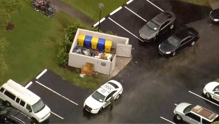 An investigation is underway after a baby was found alive in a dumpster in suburban Boca Raton on Wednesday morning.