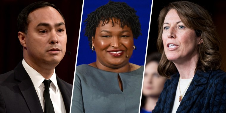 Image: Joaquin Castro, Stacey Abrams and Cindy Axne