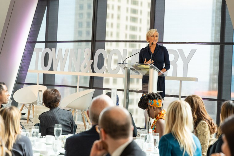 Mika Brzezinski speaks at the Town and Country event in New York City on Wednesday night.