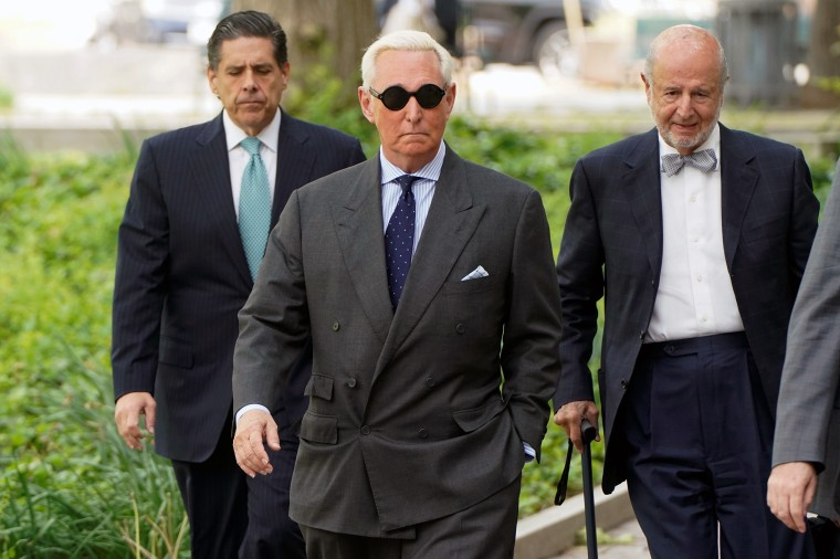 Image: Roger Stone arrives for status hearing at U.S. District Court in Washington