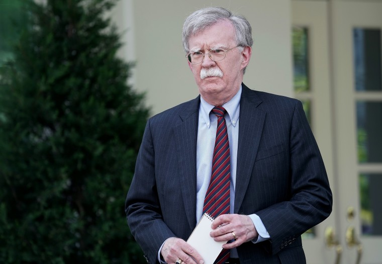 Image: National Security Advisor John Bolton Holds Briefing At The White House