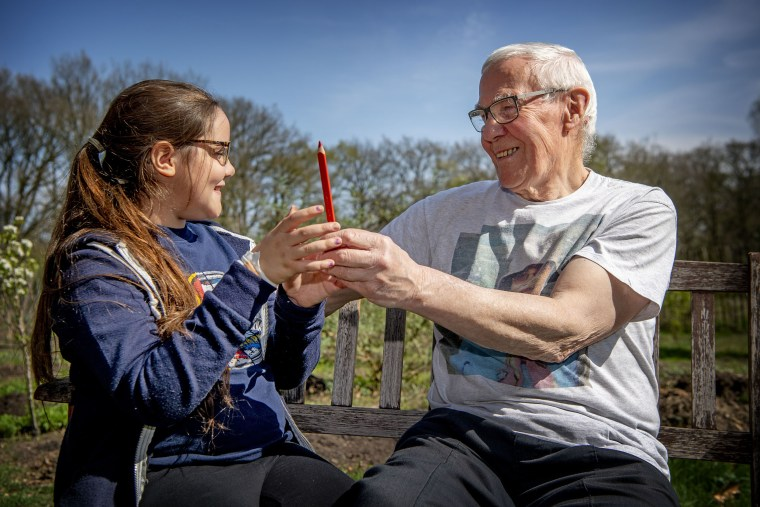 Image: Jim Platt, 79, has pledged to vote for according to his 11-year-old granddaughter Lilly's choosing in the upcoming European parliament elections.