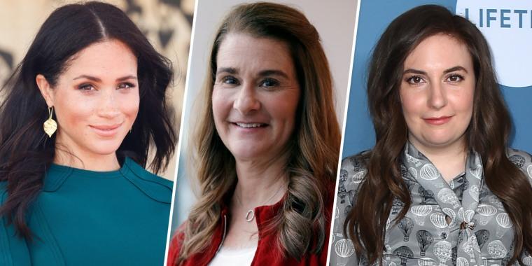 Image: Meghan Markle, Melinda Gates, Lena Dunham
