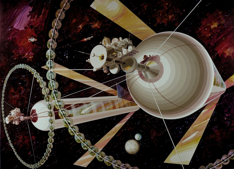 Physicist Gerard K. O'Neill proposed a space settlement design based on giant cylinders.