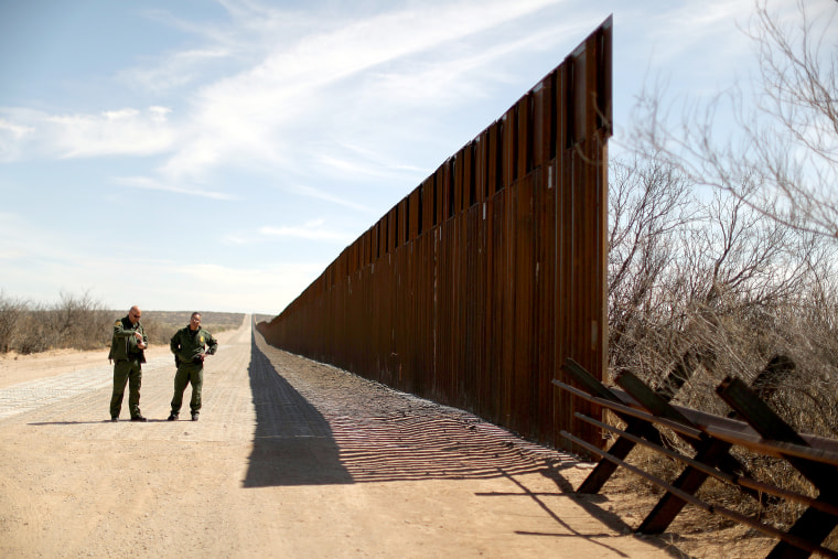 Image: New bollard-style U.S.-Mexico border fencing is seen next to vehicle barriers in Santa Teresa