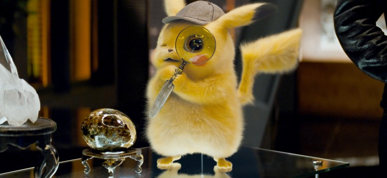 "Ryan Reynolds as the voice of Detective Pikachu in in ""Pokemon Detective Pikachu."""