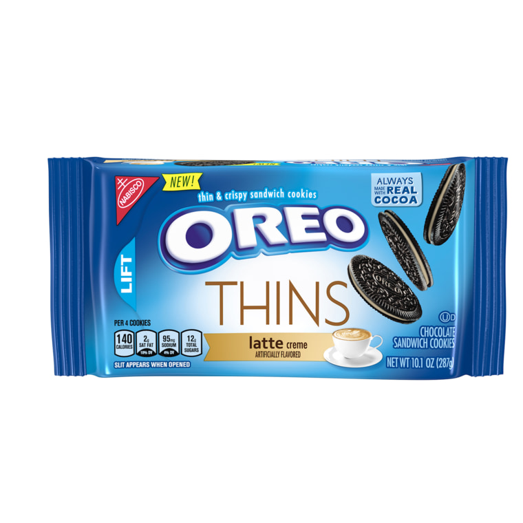 For those who adore a thinner Oreo (and a cup of Joe), Latte Thins are here on a permanent basis.