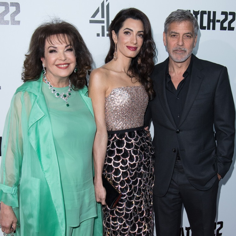 George Clooney brings mother-in-law to premiere — see the pics