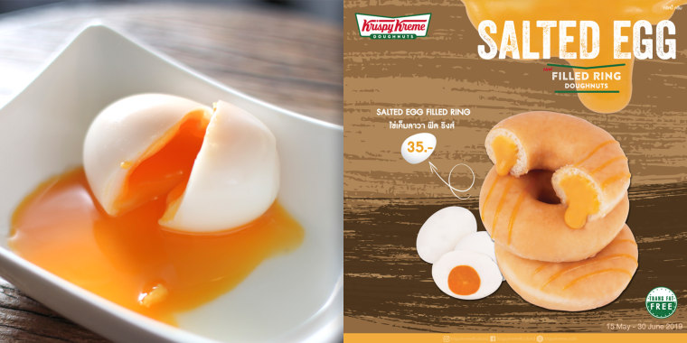 salted egg donuts