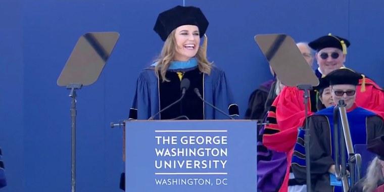 Read Savannah Guthrie's heartfelt commencement speech at George Washington University