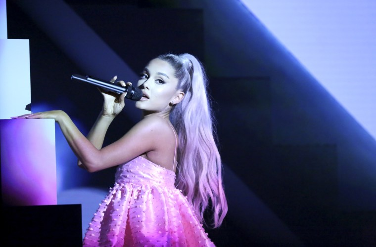 Image: Ariana Grande performs on The Tonight Show on May 1, 2018.