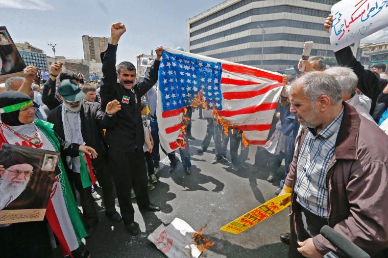 Image: IRAN-US-CONFLICT-DEMO