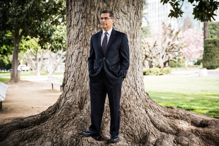 Image: California Attorney General Xavier Becerra in Sacramento on March 9, 2019.