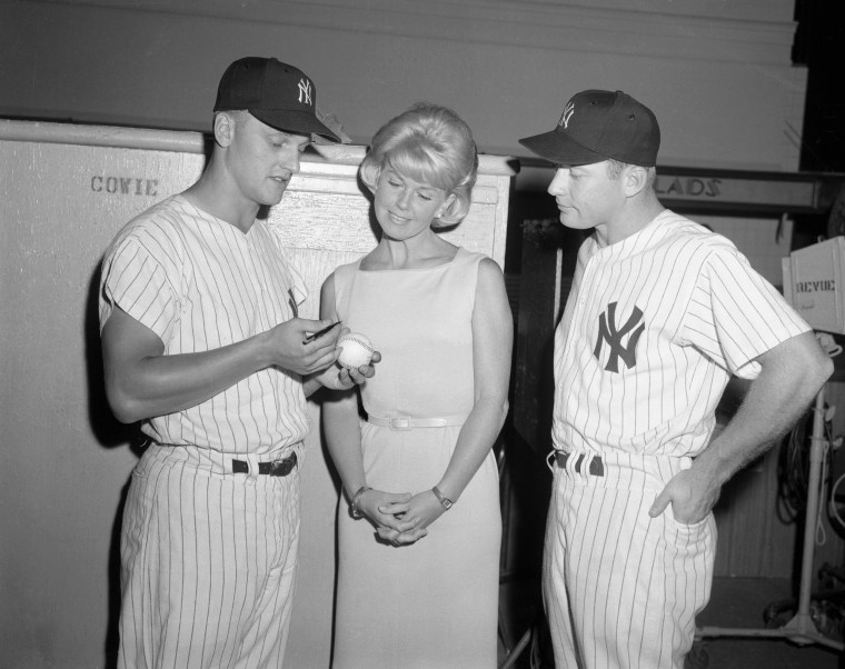 Baseball Greats Talking with Doris Day