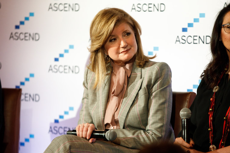Arianna Huffington, Thrive Global CEO and The Huffington Post founder, speaks at the ASCEND summit in New York City on Friday.