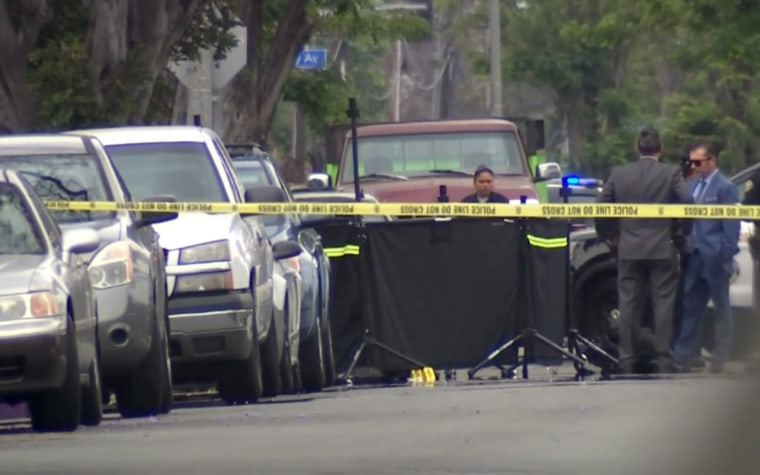 Image: A man was arrested in the death of a woman who was beaten with a motorized scooter in Long Beach, California.