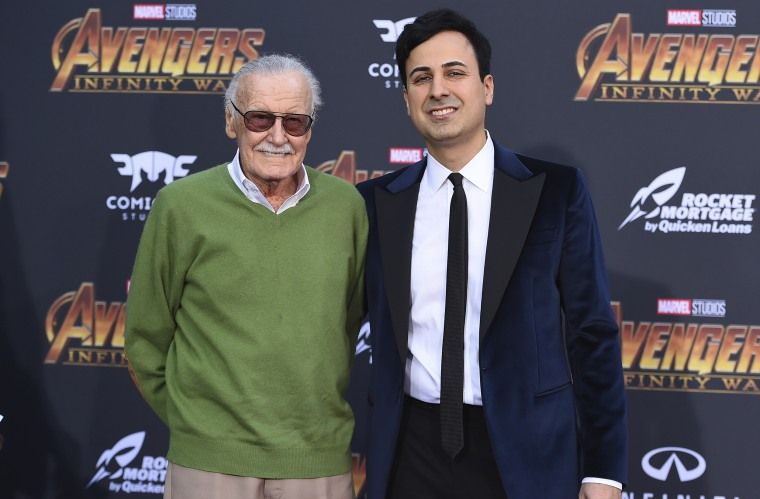 Image: Stan Lee and Keya Morgan