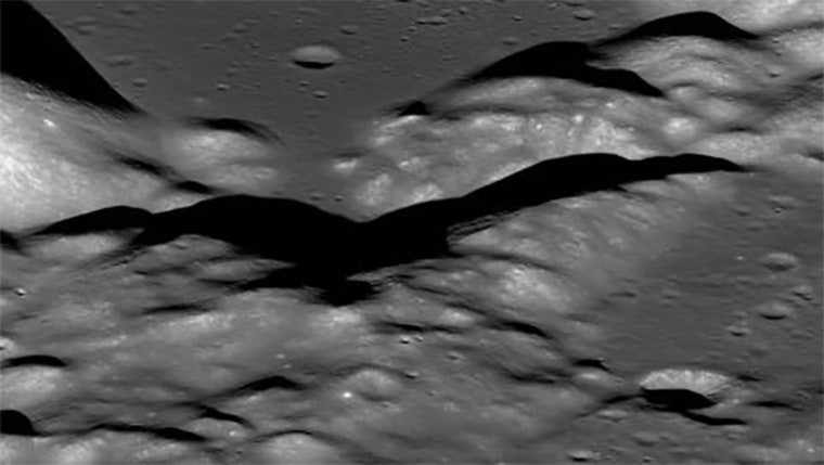 Image: View of the Taurus-Littrow valley taken by NASA's Lunar Reconnaissance Orbiter spacecraft.