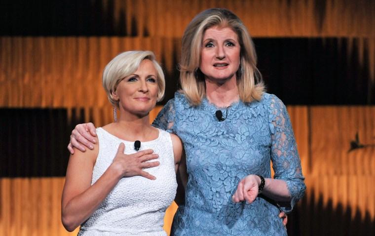 Mika Brzezinski and Arianna Huffington attend THRIVE