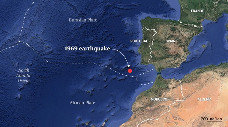 Scientists think a tectonic plate is peeling apart, spawning a new subduction zone near where a 7.8-magnitude earthquake struck in 1969.