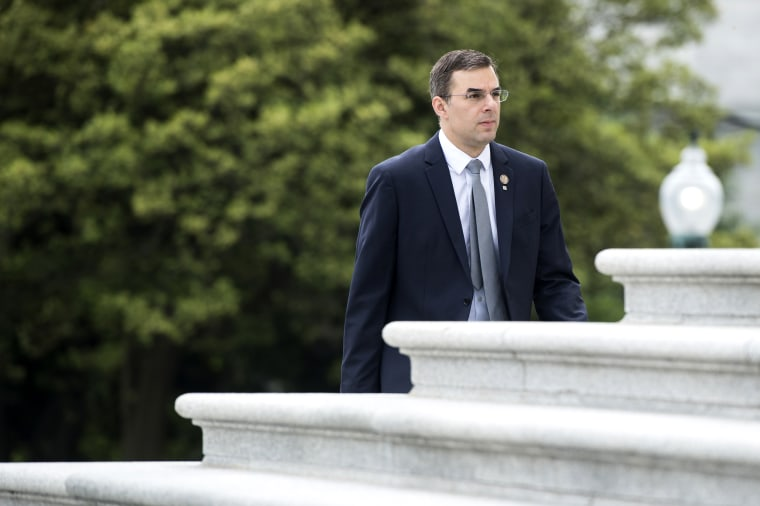 Image: Rep. Justin Amash, R-Mich., walks to the Capitol on May 9, 2019.