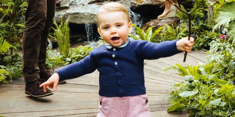 Prince Louis appears to be wearing Prince George hand-me-downs in new pics
