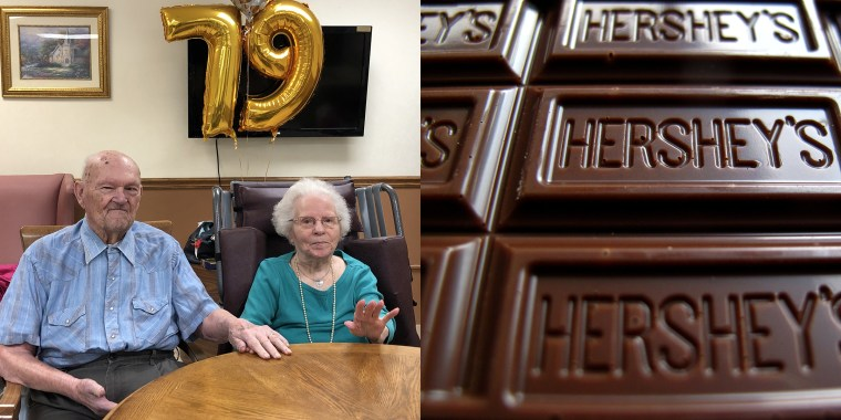 Couple credits love of chocolate as the secret to their 79-year marriage