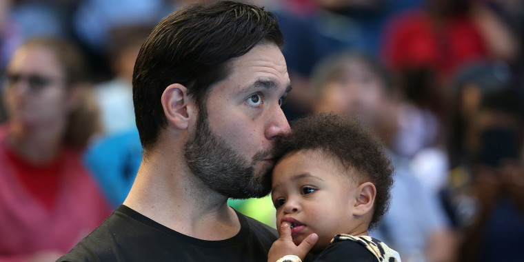 Serena Williams's husband Alexis Ohanian trying to learn how to do daughter's hair