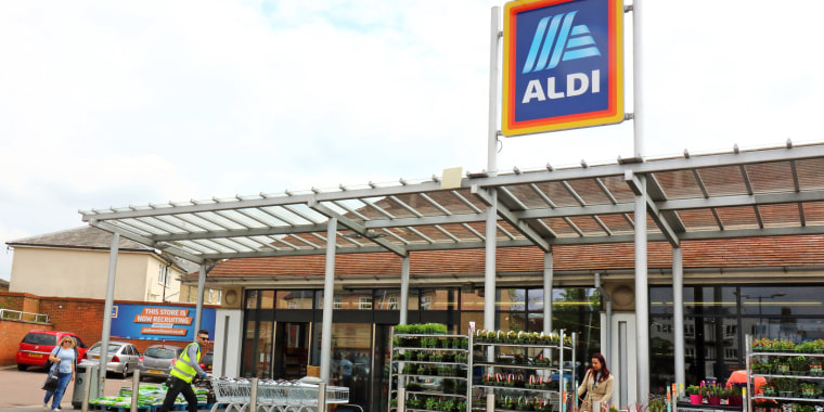 Exterior view of an Aldi store, One of the Top Ten