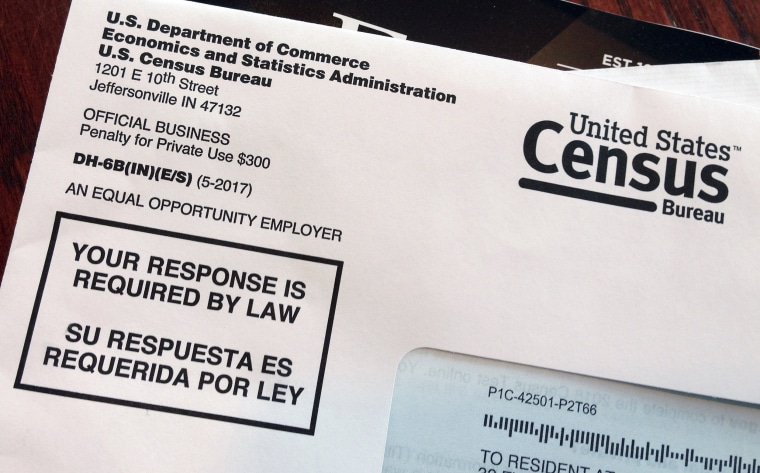 Image: An envelope containing a 2018 census test letter mailed to a resident in Providence, Rhode Island