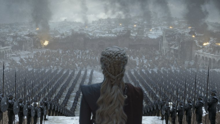 "Emilia Clarke in the series finale of ""Game of Thrones."""