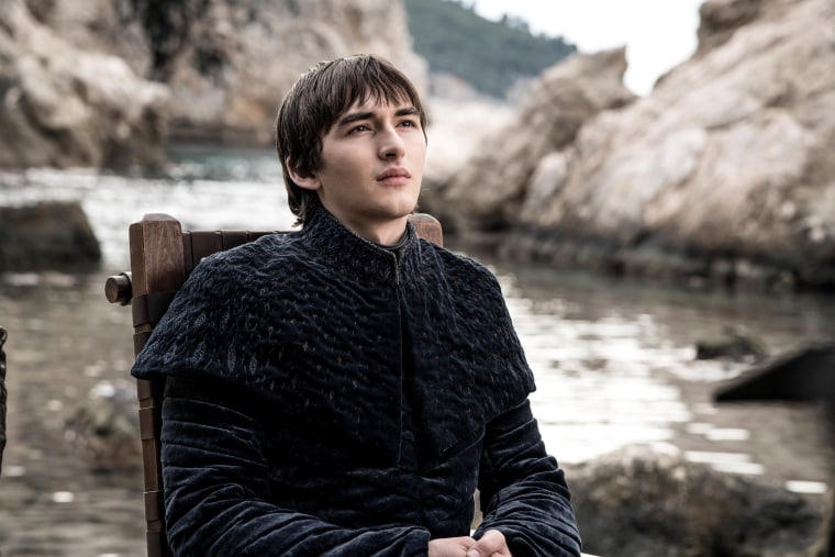 "Image: Isaac Hempstead Wright in the series finale of HBO's ""Game of Thrones."""