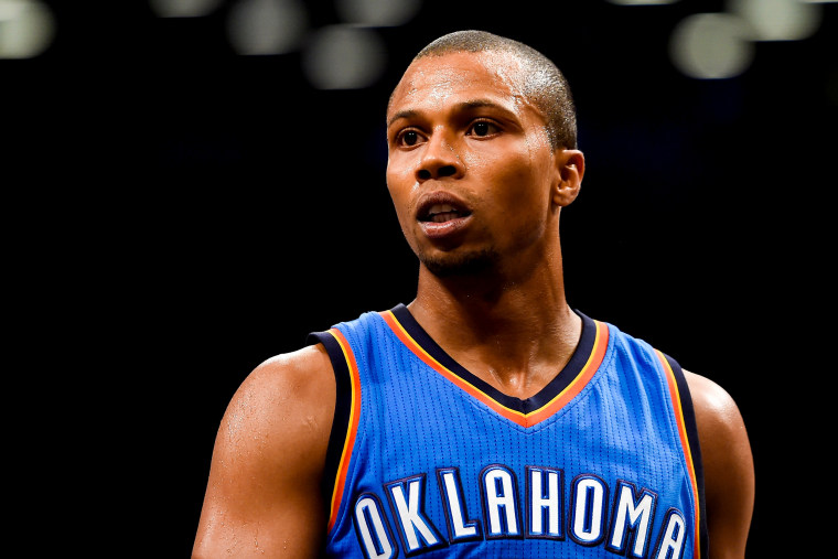 Image: Sebastian Telfair of the Oklahoma City Thunder during a game against the Brooklyn Nets in New York on Nov. 3, 2014.