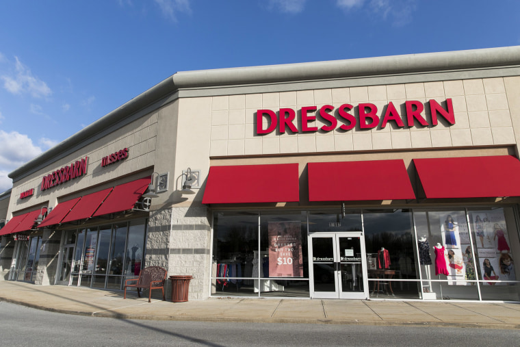 Image: A DressBarn retail store front in Hagerstown, Maryland