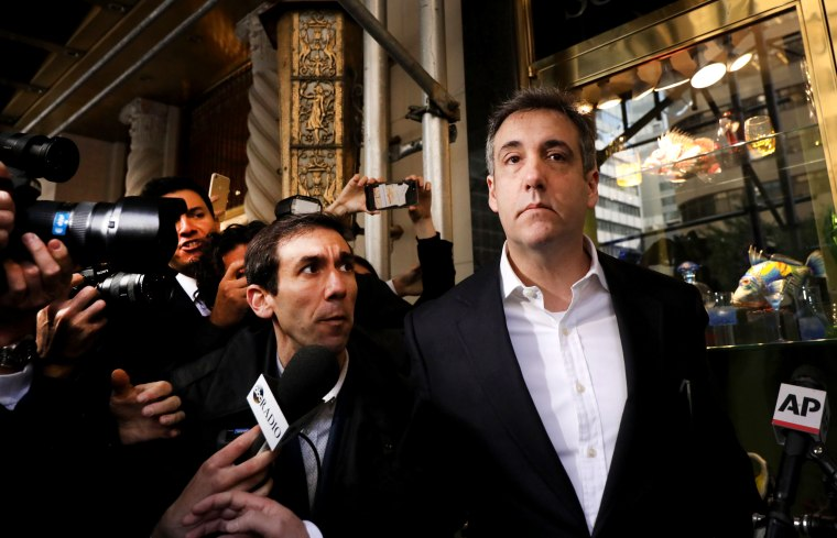 Image: Michael Cohen, the former personal attorney to President Donald Trump, leaves his Manhattan apartment for federal prison on May 6, 2019.
