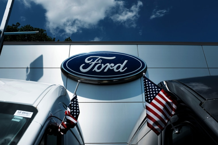 Image: Cars for sale at a Ford dealership in Queens, New York, on May 20, 2019.