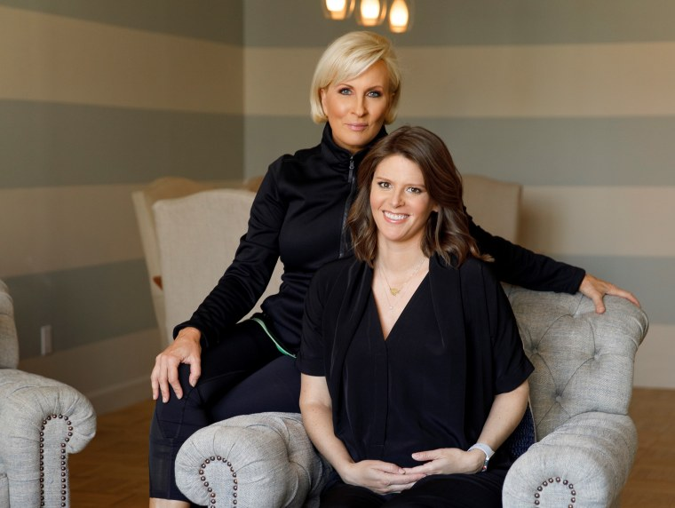 """Morning Joe"" co-host and Know Your Value founder Mika Brzezinski with NBC Capitol Hill correspondent Kasie Hunt."