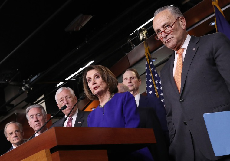 Image: Speaker Pelosi And Senate Democratic Leader Sen. Schumer Speak On Capitol Hill After President Trump Speaks On Mueller Report