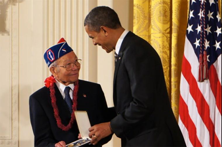 Image: Barack Obama, Terry Shima