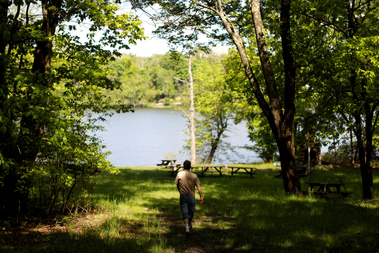 Image: Scott Rosmarin, owner and operator of Rosmarins Day Camp and Cottages, walks the grounds in Monroe, New York, on May 20, 2019.