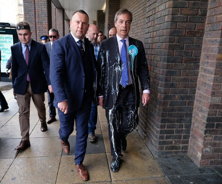 Image: Nigel Farage Undertakes A Whistle-Stop Tour Of England